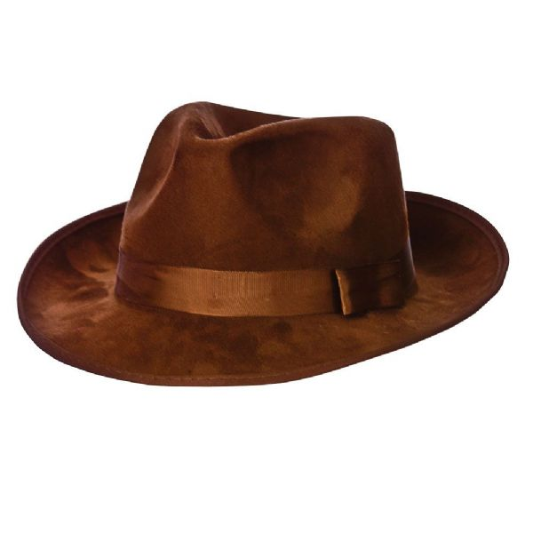 Fedora - Brown Suede